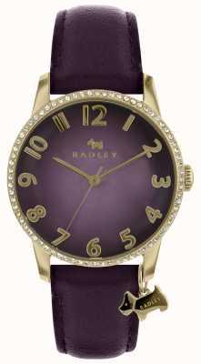 Radley 女士紫色手表配金色表壳 RY2726
