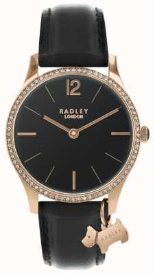 Radley 女士黑色缎面手表 RY2704