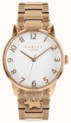 Radley 女士玫瑰金不锈钢手表 RY4362