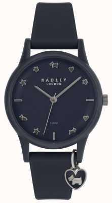 Radley 女士手表硅胶表带银色标记 RY2691