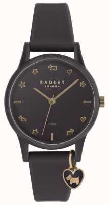 Radley 女士紫色硅胶手表,浅金色标记 RY2696