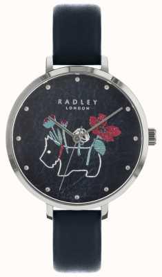 Radley 女士花卉和狗印黑色手表 RY2681
