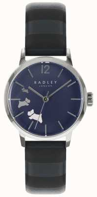 Radley 女士数据狗蓝色墨水缎面表盘 RY2675