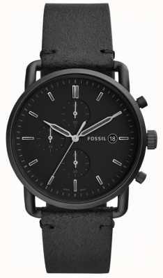 Fossil 男士黑色皮革 FS5504