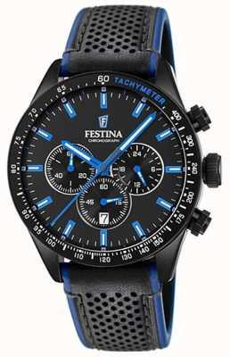 Festina 男士计时码表黑色表盘黑色皮表带 F20359/3