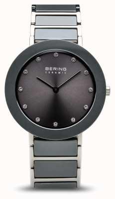 Bering 灰色陶瓷不锈钢表链灰色表盘 11435-789