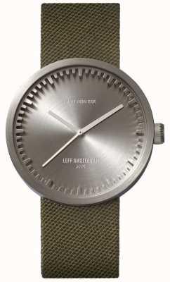 Leff Amsterdam 管表d38 cordura精钢表壳绿色表带 LT71004
