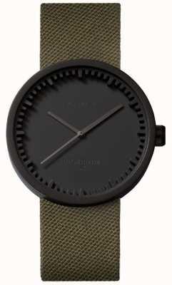Leff Amsterdam 电子表手表d38 cordura哑光黑色表壳绿色表带 LT71014