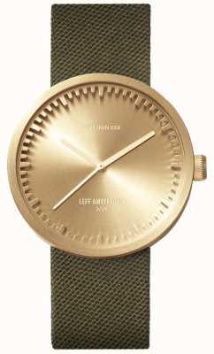Leff Amsterdam 电子管手表d38 | cordura黄铜|绿色表带 LT71024