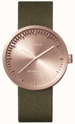 Leff Amsterdam 电子管手表d38 | cordura玫瑰金|绿色表带 LT71034