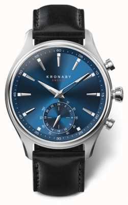 Kronaby 男装sekel 41不锈钢|蓝色表盘|黑色a1000-3758 S3758/1