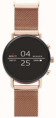 Skagen Falster 2代4智能手表玫瑰金网 SKT5103