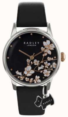 Radley 拉德利女士|花卉印花|黑色表盘|皮表带 RY2687