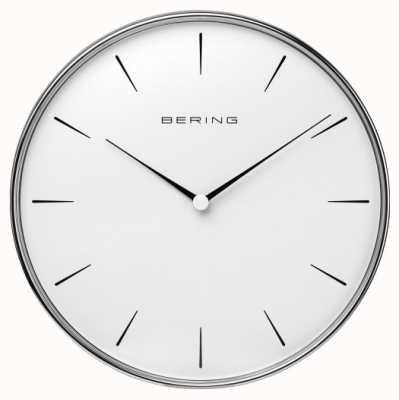 Bering 不锈钢白色表盘挂钟 90292-04R