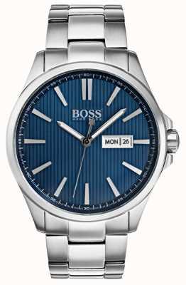 Hugo Boss 男士詹姆斯不锈钢表链蓝色表盘 1513533