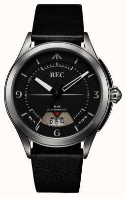 REC Spitfire自动黑色皮革表带 RJM-01