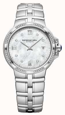 Raymond Weil Parsifal女士石英经典| 56钻石|珍珠母 5180-STS-00995