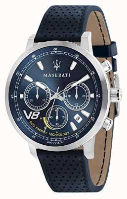 Maserati 男士GT 44毫米|太阳能|银色外壳|蓝色表盘|蓝色皮革 R8871134002