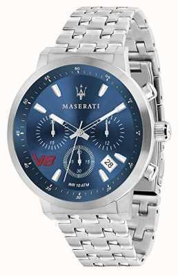 Maserati 男士GT 44毫米|蓝色表盘|银色不锈钢手链 R8873134002
