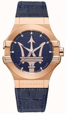 Maserati 男士潜力42毫米|镀金表壳|蓝色表盘 R8851108027