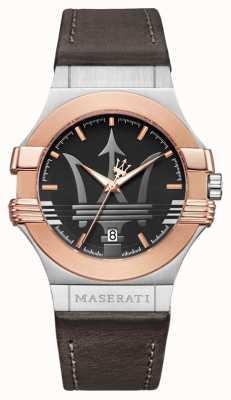 Maserati 男士潜水42毫米|镀金不锈钢|棕色的 R8851108014