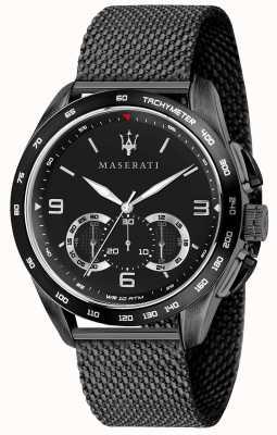 Maserati 男士traguardo 45毫米|黑色表盘|黑色网状手链 R8873612031