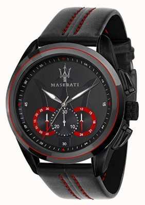 Maserati 男士traguardo计时码表|黑色表盘|黑色皮革 R8871612023
