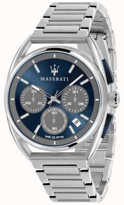 Maserati 男士trimarano 41毫米|蓝色表盘|不锈钢手链 R8873632004