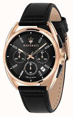 Maserati 男士trimarano 41毫米|玫瑰金表壳|黑色表盘| R8871632002