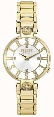 Versus Versace 女装kristenhof |银色表盘|金不锈钢 VSP490618