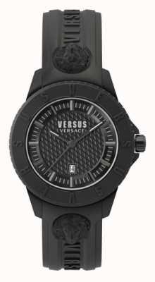 Versus Versace 东京r |黑色表盘|黑色硅胶表带 VSP0Y2318