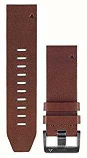 Garmin 棕色皮革表带quickfit 22毫米fenix 5 /本能 010-12496-05