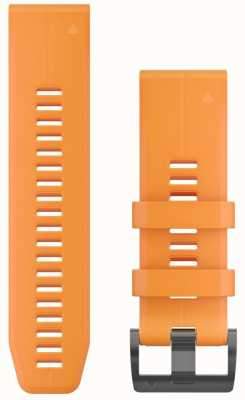 Garmin 橙色橡胶表带quickfit 26毫米fenix 5x / tactix查理 010-12741-03