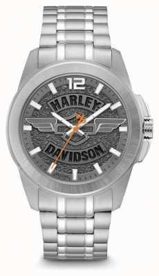 Harley Davidson 男士只有时间不锈钢手链 76B180