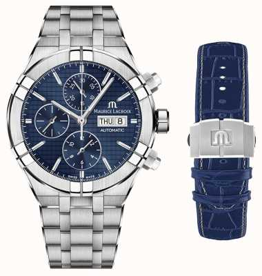 Maurice Lacroix Aikon自动计时不锈钢带第二带 AI6038-SS002-430-1-WITH-STRAP