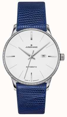 Junghans Meister damen自动|钻石套装|蓝色蜥蜴皮带 027/4846.00
