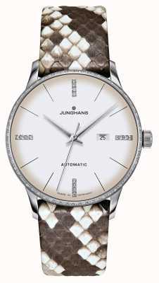 Junghans Meister damen自动|钻石|蟒蛇皮和蜥蜴皮带 027/4847.00