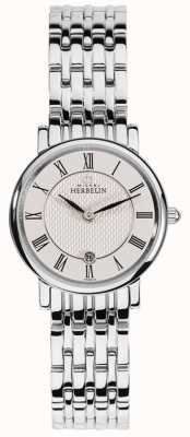 Michel Herbelin 女性epsilon |白色表盘|不锈钢手链 16945/B01