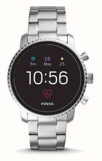 Fossil 连接q explorist hr智能手表不锈钢 FTW4011