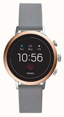 Fossil 连接q创业hr智能手表灰色硅胶表带 FTW6016