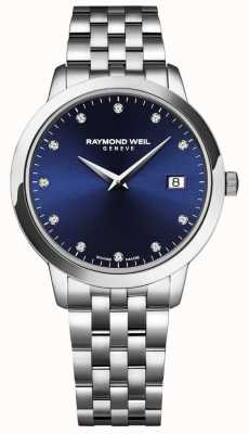 Raymond Weil 女性toccata |蓝色表盘|不锈钢手链 5988-ST-50081