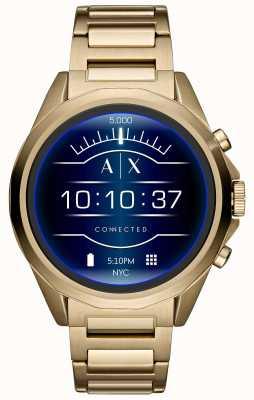 Armani Exchange 连接智能手表触摸屏金色镀金 AXT2001