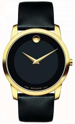 Movado |男士博物馆经典手表|黑色皮革| 0606876