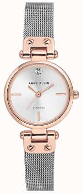 Anne Klein |女士电缆手表|银色调| AK/N3003SVRT