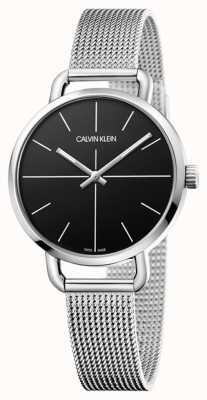 Calvin Klein  甚至看 不锈钢网带 黑色表盘  K7B23121