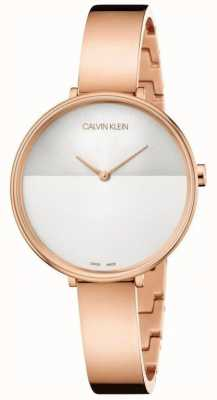 Calvin Klein |女性崛起延伸|玫瑰金手链|两个音调拨号 K7A23646