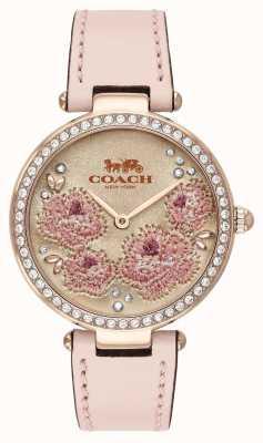 Coach |女子公园表|粉色皮革表带| 14503285
