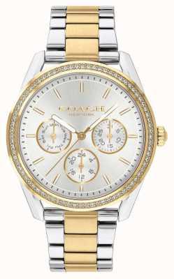 Coach |普雷斯顿手表|计时码表双色调银色和金色| 14503268