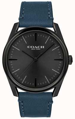 Coach |男士现代奢华手表|蓝色皮革表带| 14602399