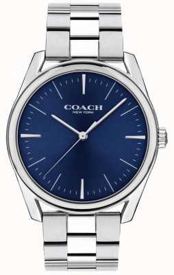 Coach |男士现代奢华手表|不锈钢蓝色表盘| 14602401